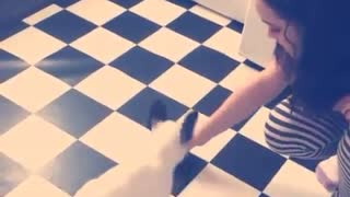 French Bulldog puppy shows off impressive tricks