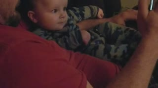 Baby finds his own video funny  - Video