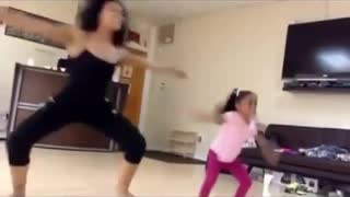 Little Girl Dancing Like Her Mother ....Professional !!