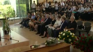 Funeral held for Spanish-American victim of Germanwings crash - Video