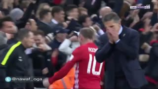 Wayne Rooney's reaction to Zlatan Ibrahimovic's winner - Video