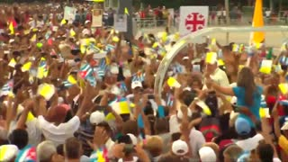Pope arrives for first official Mass in Havana - Video