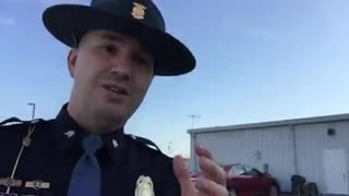 Indiana State Trooper Goes Viral After His Hilarious Safety Tip - Video