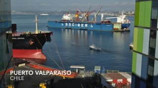 Time Lapse of Valparaiso, Chile - Video