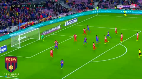Gol de Rakitic vs Sporting Gijon