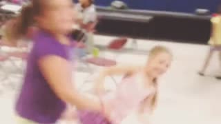 Funny Accident Of Two Dancing Little Girls - Video