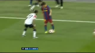 Video: Lionel Messi owns Luis Nani!!!