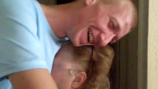 Emotional surprise reunion between grandma and grandson