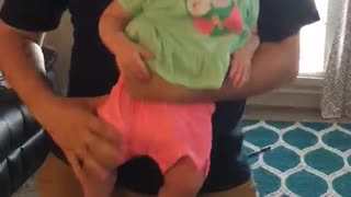Toddler dances with daddy!  - Video