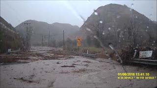 Harrowing Flash Flood Roadway Experience - Video
