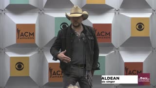 Jason Aldean talks about winning the ACM Entertainer of tthe Year Award | Rare Country - Video