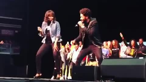 Video of Michelle Obama Dancing with Jussie Smollett Is Turning Serious Heads