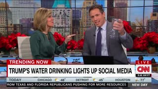 CNN Makes Fun of Trump Drinking Water, Cuomo Claims to Drink 'Like A Man'