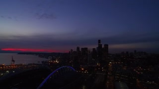 Drone captures beautiful Seattle sunset - Video