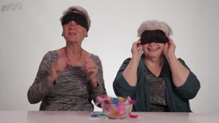 Watch Grandmas Do Blindfold Touch Test - Video