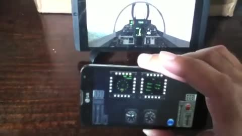 Controling Flight Simulator with phone (carrier landings pro)
