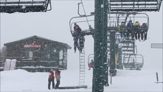 Boy Dangles from Sundance Resort Ski Lift - Video