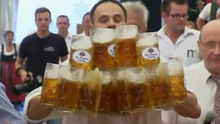 This is one very large order of beer - Video
