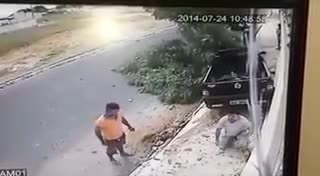 Truck Flies Into Civilians On Sidewalk - Video