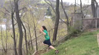 Rope swing attempt goes hilariously wrong - Video