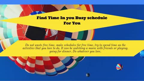 Frank Dilullo Suggested Tips Make Time for Yourself