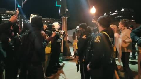 Anti Police Protesters Attempt to Incite Violence n Omaha
