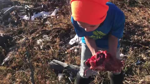 Boy Attempts to Bite Elk Heart as Rite of Passage