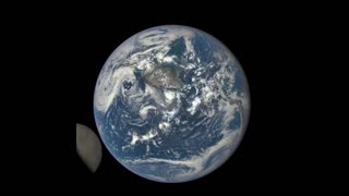 Dark side of the moon captured by NASA satellite - Video