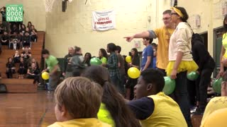 High School Spirit Day Supports Leukemia - Video