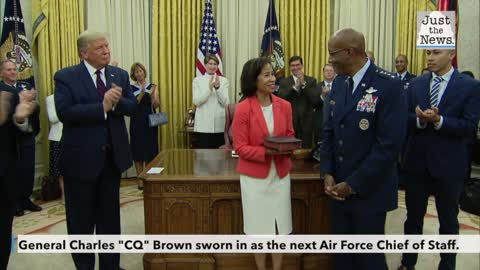 "Gen. Charles ""CQ"" Brown sworn in as the next Air Force chief of staff"