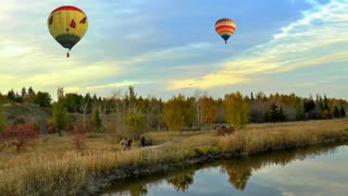 Lake Scenery Nature Sky Smooth One Surface Peace Balloon - Video