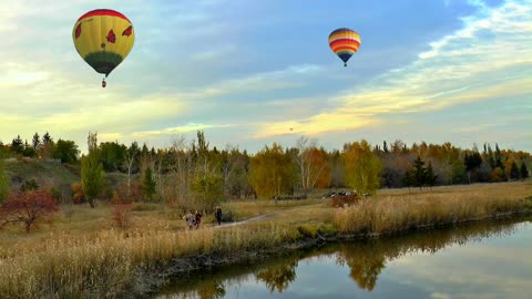 Lake Scenery Nature Sky Smooth One Surface Peace Balloon