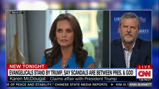 Erin Burnett asks Jerry Falwell Jr what 'red line' is on sexual misconduct allegations against Trump - Video