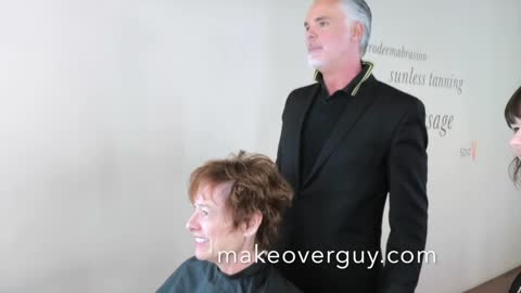 MAKEOVER: Cool Red Pixie, by Christopher Hopkins, The Makeover Guy®