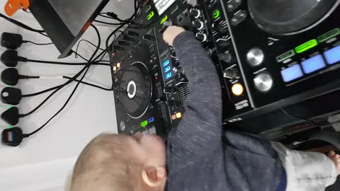 15 month old Eddie the DJ