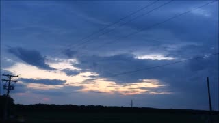 Sunset Behind A Rain Storm  - Video