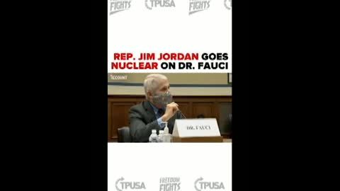 Jordan undresses Fauci over topic of Ranting