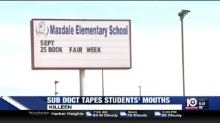 Substitute teacher in local school duct tapes mouths of students - Video