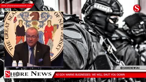 NJ governor tells businesses he will shut them down