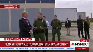 Trump Visits Border Wall Prototypes in California, Talks Design Preferences and Benefits - Video