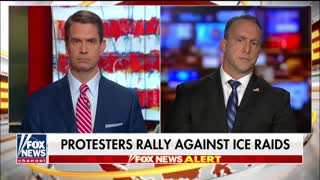 Acting ICE director speaks about raids