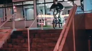 Bicycle Rail Grind Fail - Video