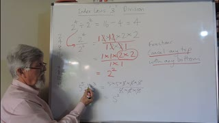 Math Index Laws or Exponent Set A 03 Simple Division Mostly for Years/Grade 7 and 8