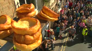 Food fight fun at black pudding championships - Video