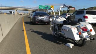 Motorcycle Rear Ends Car