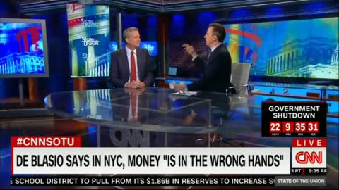 CNN's Tapper presses deBlasio on comment about money being in wrong hands