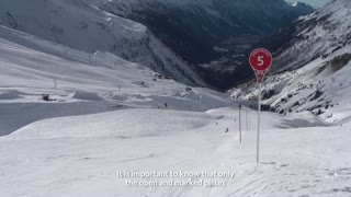 Beware of a false sense of security when skiing close to the piste!