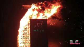 Dozens hospitalized after fire engulfs 33-story apartment building in South Korea