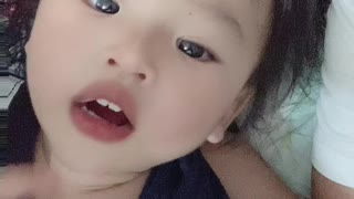 Baby try not to laugh