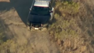 Pick Up Crashes & Suspect Steals CHP Cruiser, Leads Cops On Off Road Pursuit